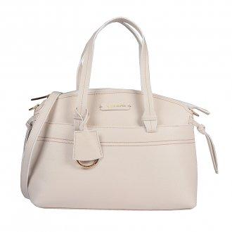 Imagem - Bolsa em Couro Off White com Bag Charm V20