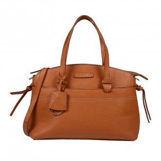 Imagem - Bolsa em Couro Whisky com Bag Charm V20