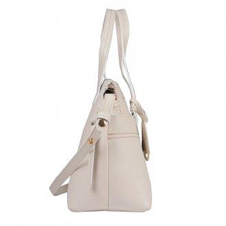 Bolsa em Couro Off White com Bag Charm V20 3
