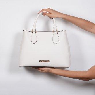 Bolsa Estruturada Off White com Alça de Ombro V20 6