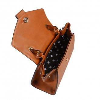 Bolsa Estruturada Caramelo com Alça de Ombro V20 4