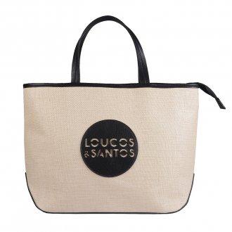 Imagem - Bolsa Sacola em Tecido Linho com Logotipo Preto V20