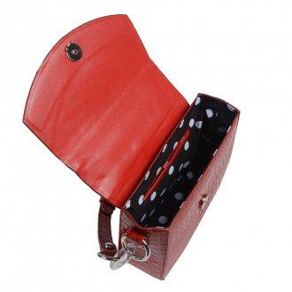 Clutch Tiracolo Estruturada Croco Vermelha V20 3