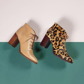 Bota Cano Curto Animal Print I21 6
