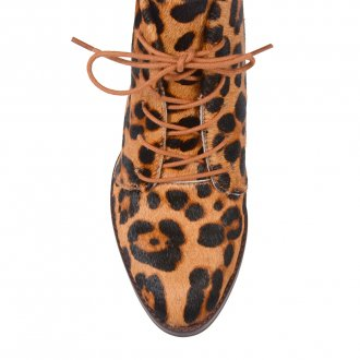 Bota Cano Curto Animal Print I21 5