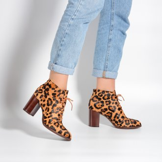 Bota Cano Curto Animal Print I21 2