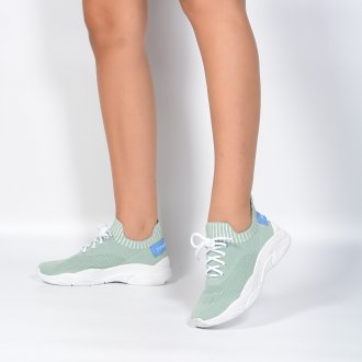 Tênis Esportivo Knit Verde Claro I21 2