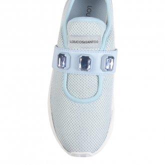 Tênis Knit Light Blue com Pedrarias V22 2