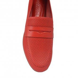 Loafer Couro Vazado Red I21 3