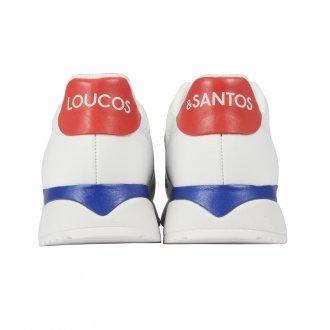 Tênis Jogger Branco com Detalhes Coloridos 3