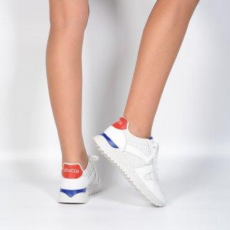 Tênis Jogger Branco com Detalhes Coloridos 2
