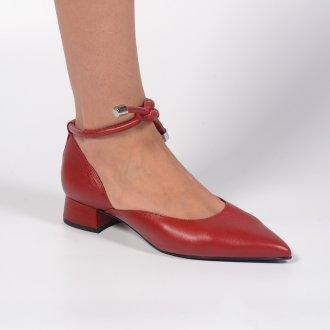 Scarpin Red com Salto Bloco e Amarração I21 2