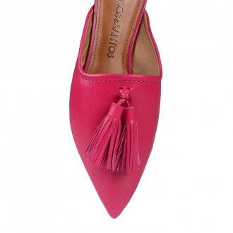 Mule Couro Pink com Barbicacho I20 4