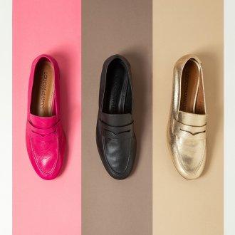 Loafer Couro Metalizado Ouro I20 6