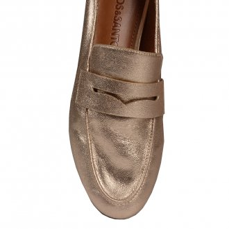 Loafer Couro Metalizado Ouro I20 4