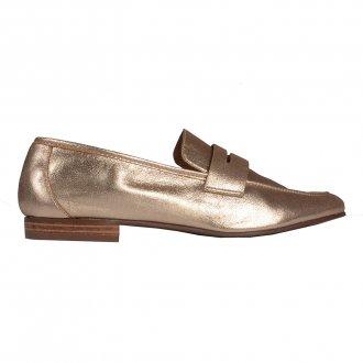 Loafer Couro Metalizado Ouro I20 2