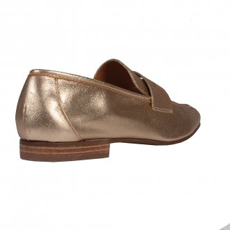 Loafer Couro Metalizado Ouro I20 3