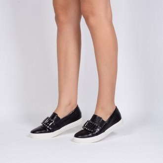 Tênis Slip On Croco Preto V20 3