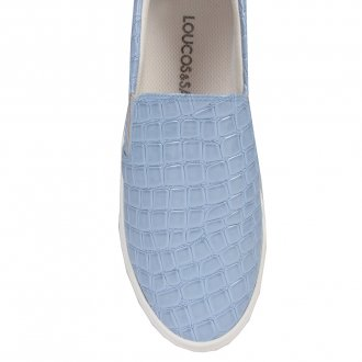 Tênis Slip On Croco Verniz Light Blue V20 2