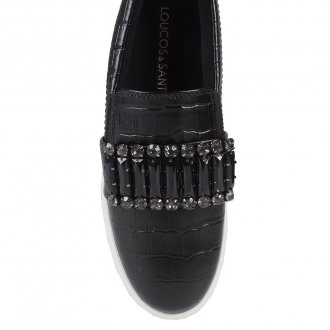 Tênis Slip On Croco Preto V20 2