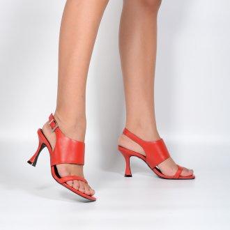 Sandália Red com Salto Taça e Bico Quadrado I21 2