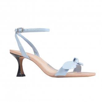 Imagem - Sandália de Laço em Couro Verniz Blue V22