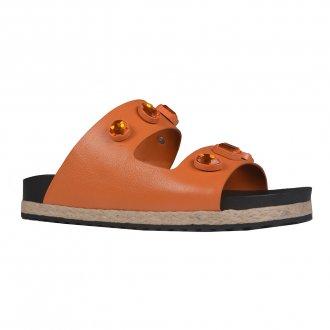 Imagem - Anatomic Sandal em Couro Damasco V22