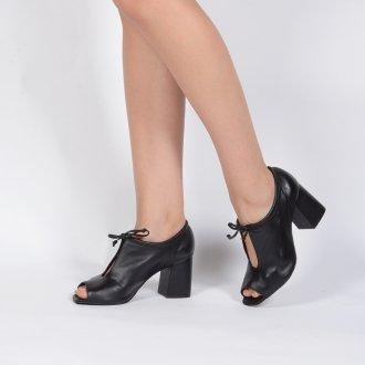 Open Boot Couro Preta I20 5