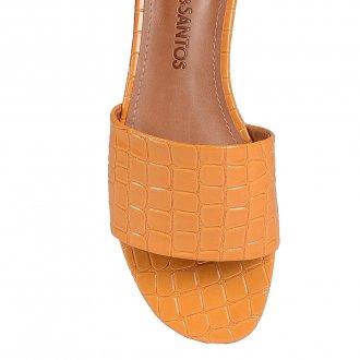 Rasteirinha Croco Verniz Amarelo V20 2