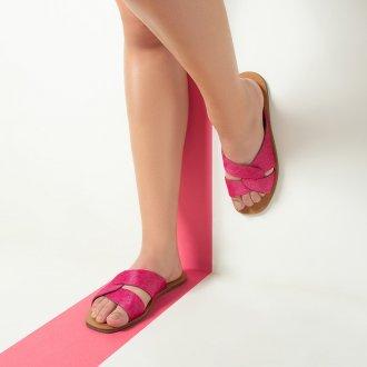 Rasteirinha Couro Pelo Pink I20 2