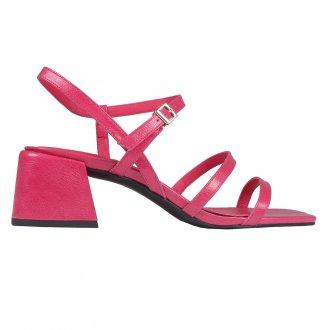 Sandália Tiras Couro Pink I20 2