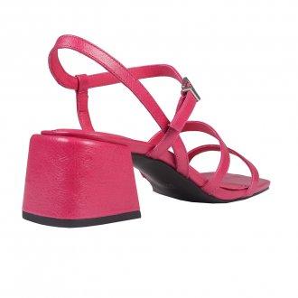 Sandália Tiras Couro Pink I20 3