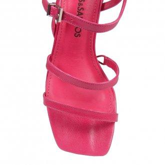 Sandália Tiras Couro Pink I20 4