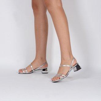 Sandália Tiras Metalizada Prata V20 3
