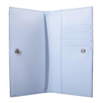 Carteira Azul Jeans Croco V21 3