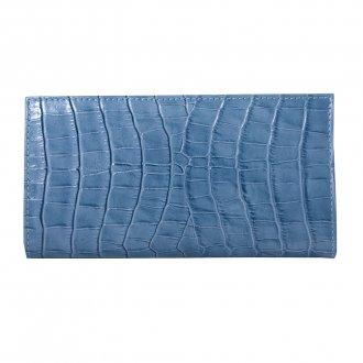 Carteira Azul Jeans Croco V21 2