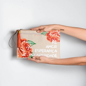 Clutch Floral com Barbicacho V21 2