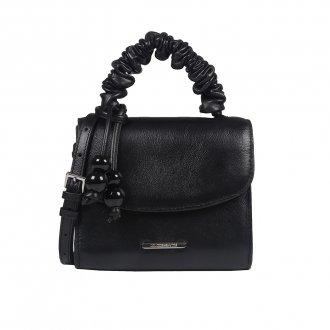 Imagem - Clutch Tiracolo Preta com Bag Charm V21