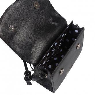 Clutch Tiracolo Preta com Bag Charm V21 4