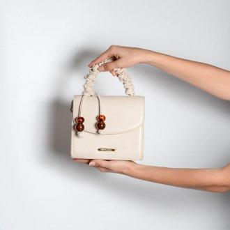 Clutch Tiracolo Off White com Bag Charm V21 2