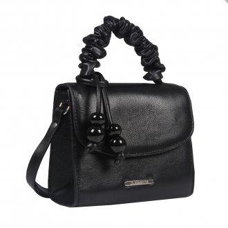 Clutch Tiracolo Preta com Bag Charm V21 3