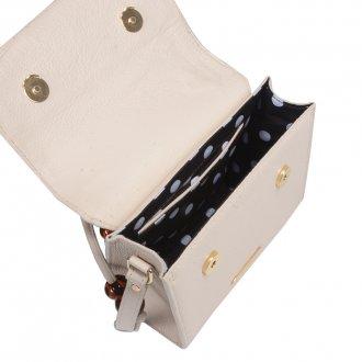 Clutch Tiracolo Off White com Bag Charm V21 4