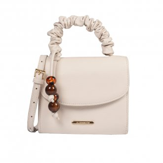 Imagem - Clutch Tiracolo Off White com Bag Charm V21