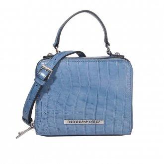 Imagem - Bolsa Box Croco Azul Jeans V21