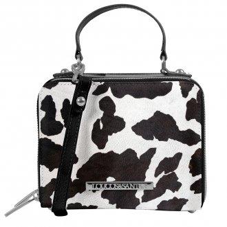 Imagem - Bolsa Box Tiracolo Cow Print P&B I20