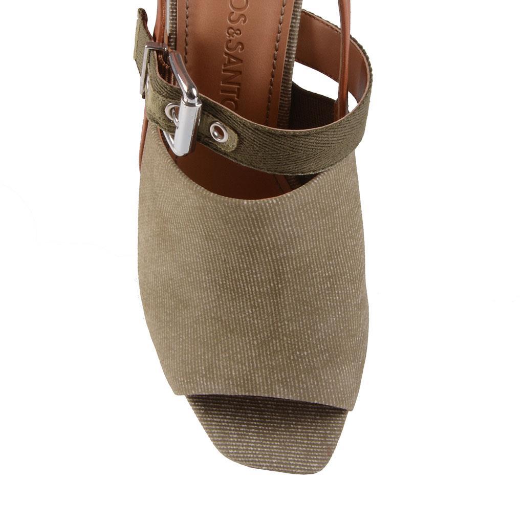 Sandália jeans verde militar I19              4