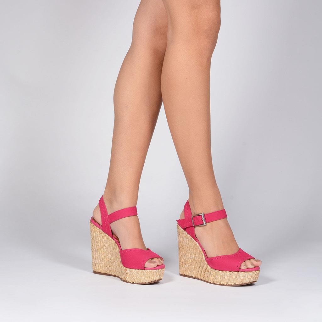 Sandália plataforma pink V19                  7