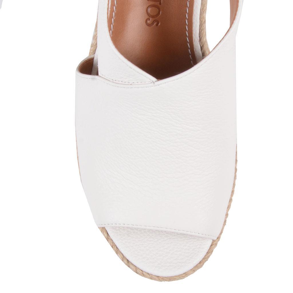Sandália plataforma branco V19                         4