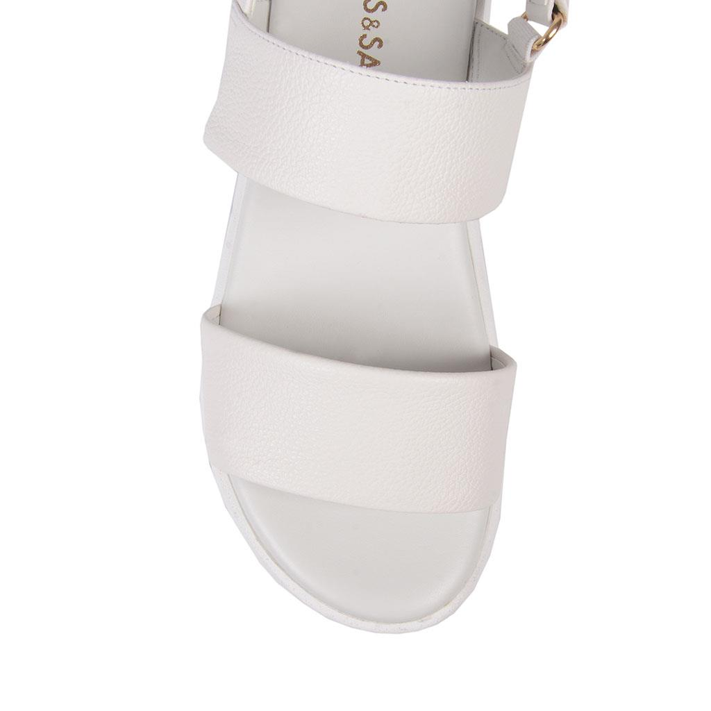 Sandália flatform branca V19                  4