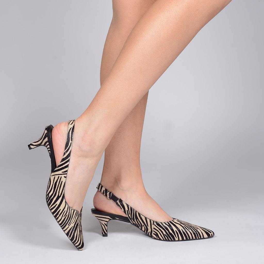Slingback pelo zebra I19                      6